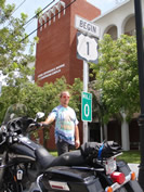 FastFred at Mile Marker 0 on Highway 1 in Key West